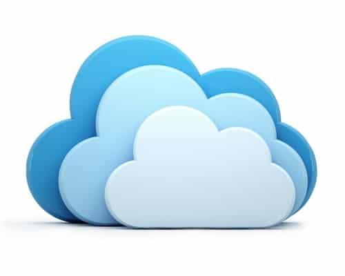 Das bekannteste und meisten verbreitetste Symbol von Cloud Computing sind drei Wolken in verschiedenen Blautönen.