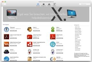 Das jemix Softwarecenter ist der App Store nur für jemix Kunden. Es enthält alle von jemix geprüften Programme.