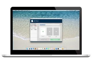 MacNulis verbindet mit einem Klick, ohne Drucker und Scanner, jeden Inhalt mit dem Briefpapierdesign