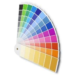 Der Farbfächer zeigt die große Vielfalt an Farben, die für das Design einer App-Entwicklung zur Verfügung stehen.